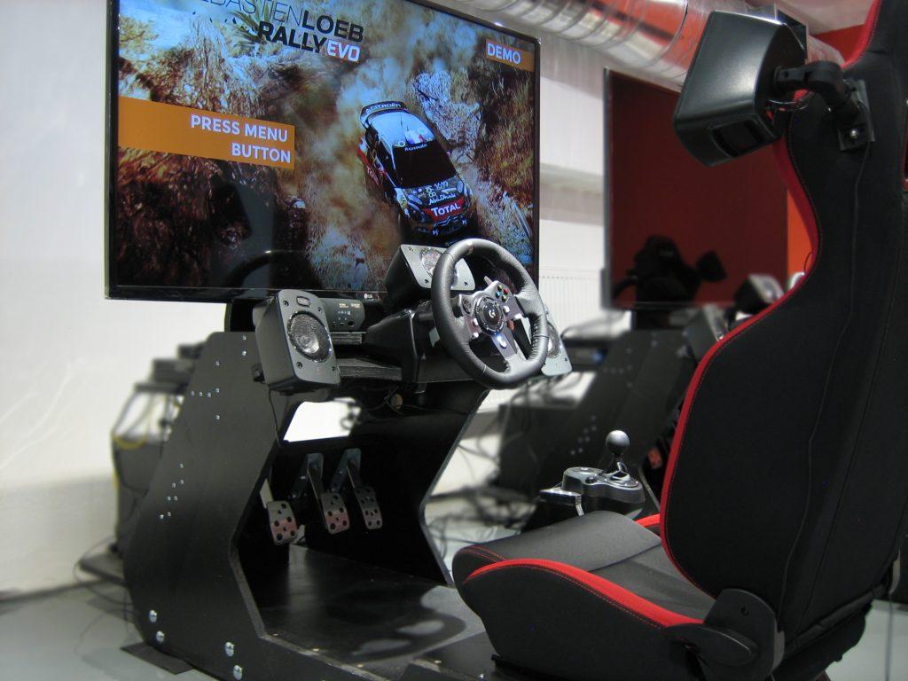 RaceSim1 Cockpit w Sebastien Loeb Rally Evo