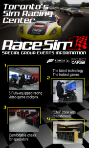 RaceSim1 Special Events Flyer
