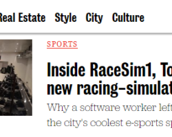 Toronto LIFE's Article on RaceSim1