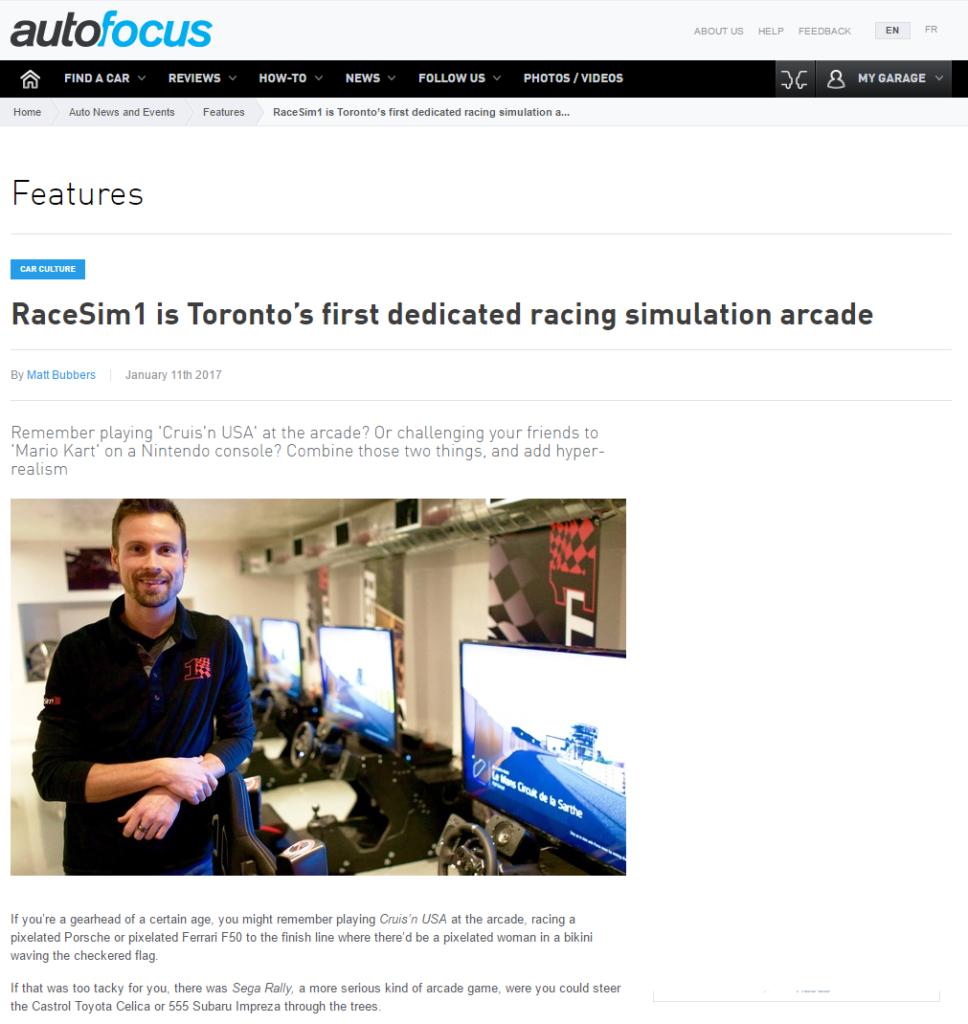 Autofocus RaceSim1 Article Screenshot