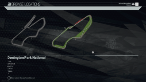 Donington Park National Track Diagram Project CARS