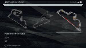 Dubai Autodrome Club Track Diagram Project CARS