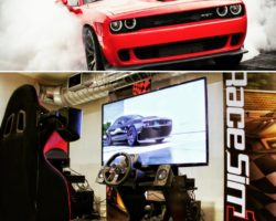 Hellcat… Come try to control the Beast at RaceSim1 :)