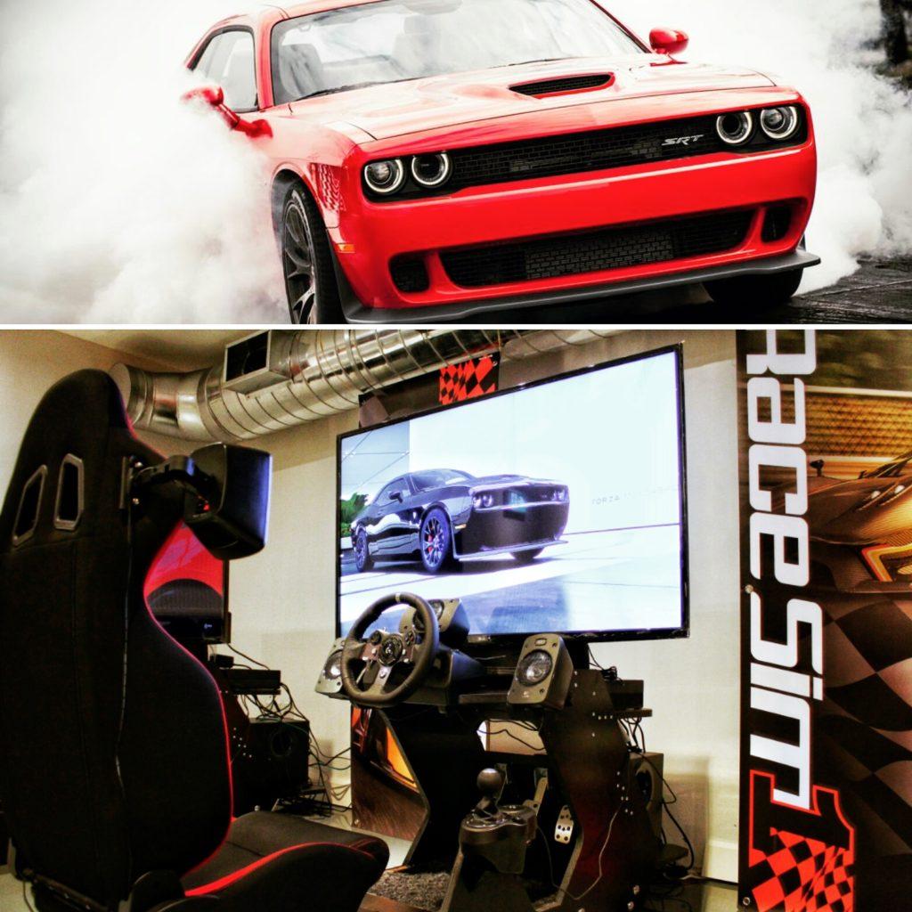 RaceSim1 - Sim Racing Centre Arcade - Toronto - Dodge Challenger Hellcat and Cockpit