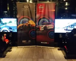 RaceSim1 at Nissan's Press Event