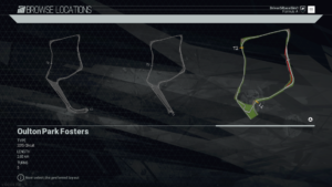 RaceSim1 Oulton Park Fosters Track Diagram Project CARS