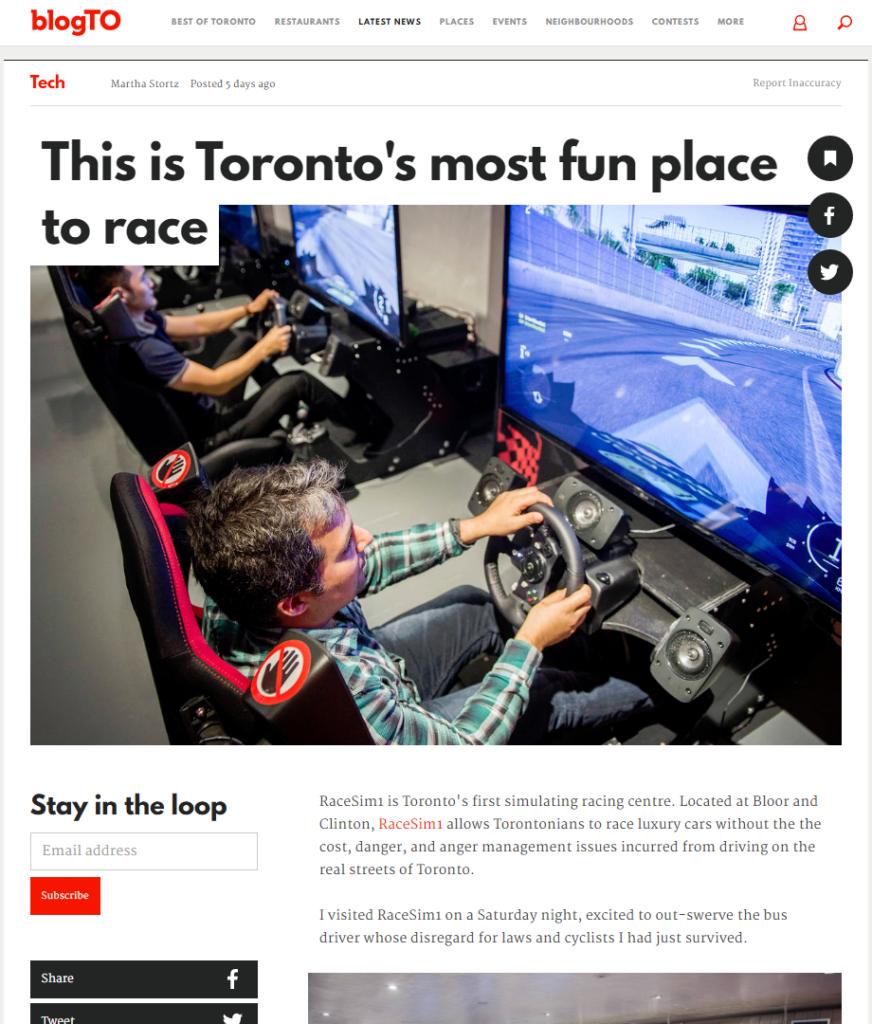 Blog.to RaceSim1 Article Screenshot - March 10, 2017
