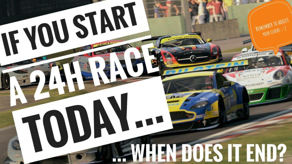 RaceSim1 24h Race Question - Time Change
