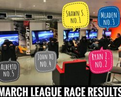 March League Race Results