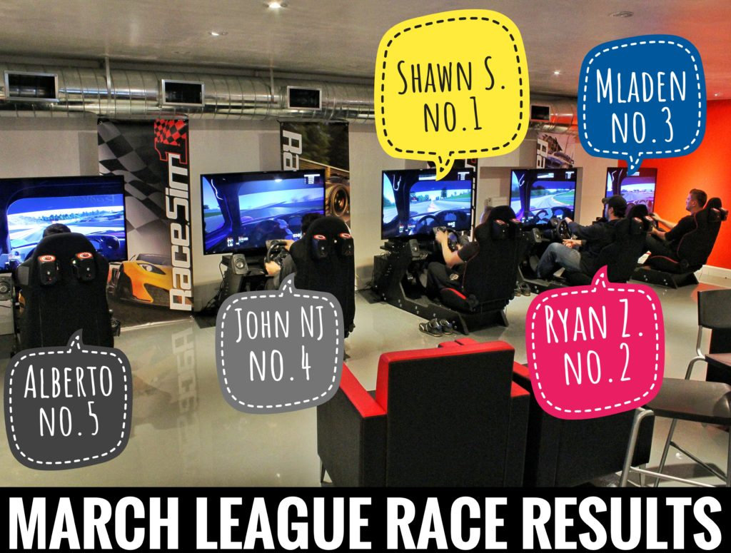 RaceSim1 Sim Racing Arcade Centre - March 2017 League Race