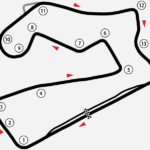 RaceSim1 April League Race Road America Track Diagram