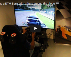 Josh Racing a DTM Benz with Others Around the Globe
