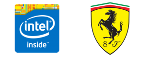 Intel and Ferrari Logo
