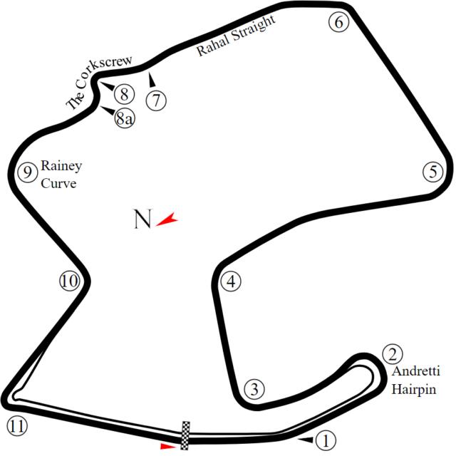 Mazda Raceway Laguna Seca Circuit Diagram