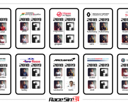 F1 Team Drivers for 2019. What we Know So Far.