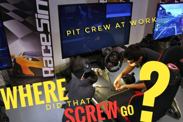 RaceSim1 Sim Racing Arcade - Pit Crew at Work