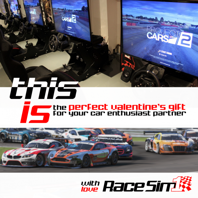 RaceSim1 Sim Racing Arcade Toronto Valentine's Day