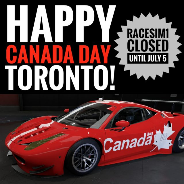 RaceSim1 Sim Racing Centre Arcade - Canada Day Break