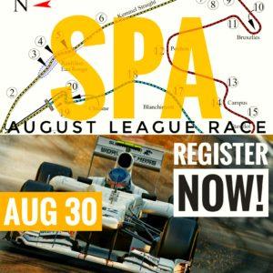 RaceSim1 - Virtual Sim Racing Arcade - August League Race